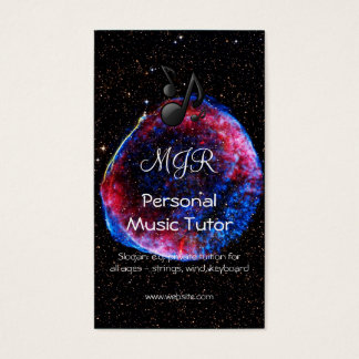 Monogram Brightest Supernova Ever space picture Business Card