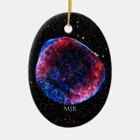 Monogram Brightest Supernova Ever space picture Ceramic Ornament