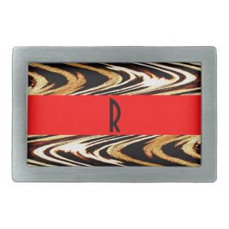 Monogram Bro Zigzag of Tiger Wedding Chevron Belt Buckle