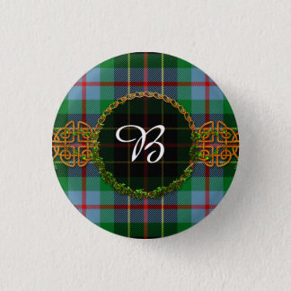 Monogram Brodie Hunting Tartan Pinback Button