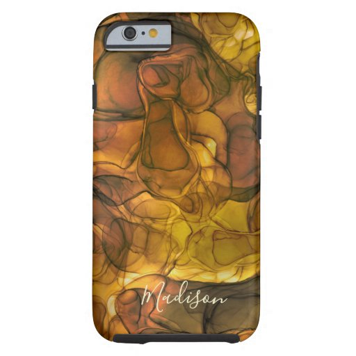 Monogram brown amber marbling dreams tough iPhone 6 case