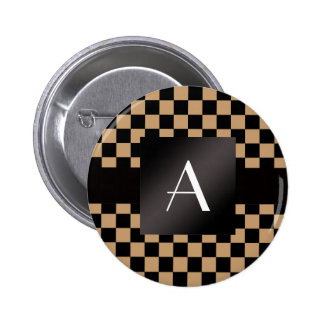 Monogram brown and black checkers pins
