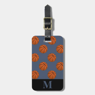 Monogram Brown Basketball Balls, Blue Jeans Bag Tag