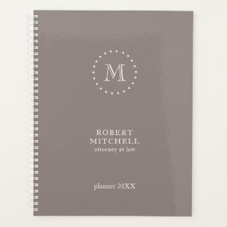 Monogram Brown Elegant Professional Planner