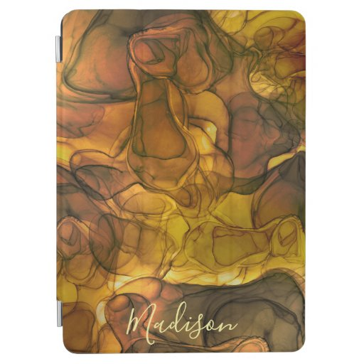 Monogram brown marbling dreams iPad air cover