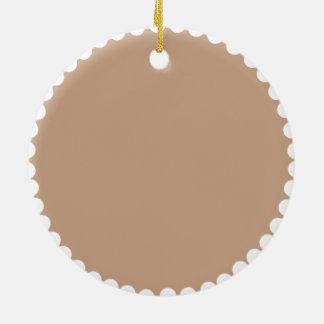 Monogram -Brown Pattern Ceramic Ornament