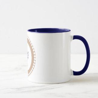 Monogram -Brown Pattern Mug