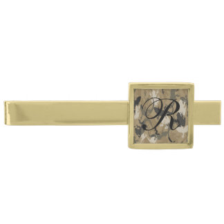 Monogram Brown Reptile Camouflage Tie Bar