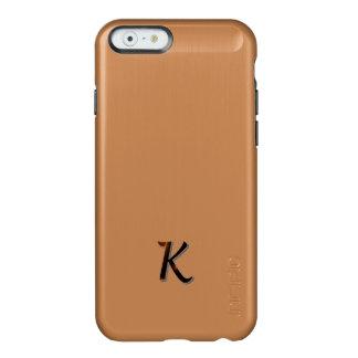 Monogram Brushed Aluminun Finish iPhone 6 case Incipio Feather® Shine iPhone 6 Case