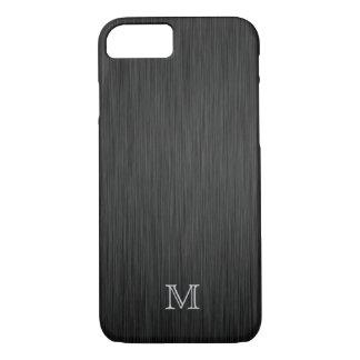 Monogram Brushed Metal Look iPhone 7 case