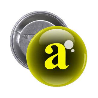 Monogram Bubble A 2 Inch Round Button