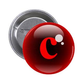 Monogram Bubble C 2 Inch Round Button