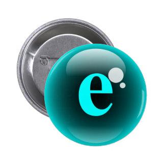 Monogram Bubble E 2 Inch Round Button