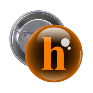 Monogram Bubble H 2 Inch Round Button