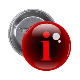 Monogram Bubble i 2 Inch Round Button