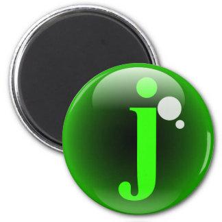 Monogram Bubble J Magnet