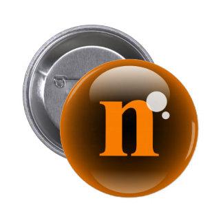Monogram Bubble N 2 Inch Round Button