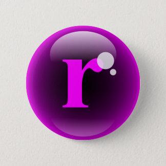 Monogram Bubble R Button