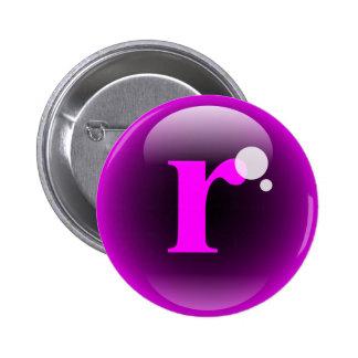 Monogram Bubble R 2 Inch Round Button