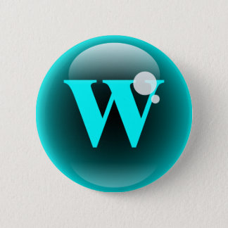 Monogram Bubble W Pinback Button