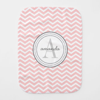 Monogram Burp Cloth - pink
