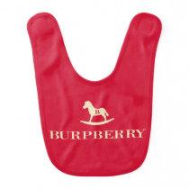 Monogram Burpberry Rocking Horse Designer Baby Bib