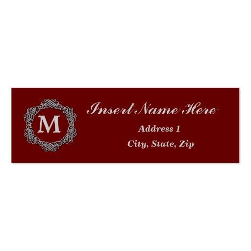 Monogram Business Card