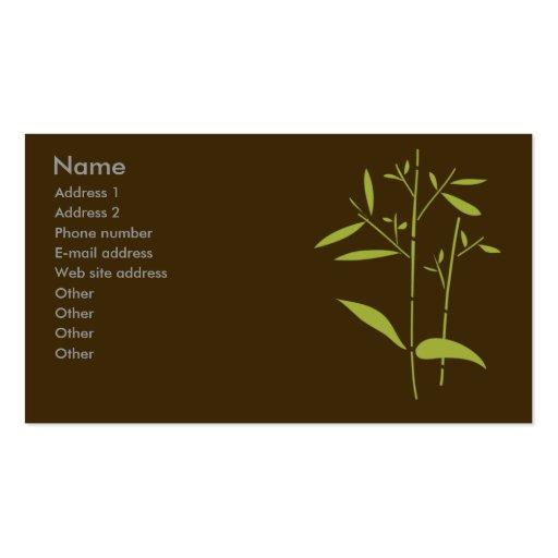 Monogram Business Card - Bamboo