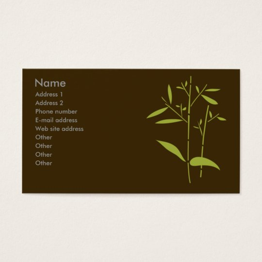 Monogram Business Card - Bamboo