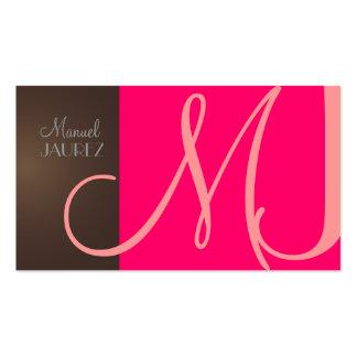 Monogram Business Card en retro colors