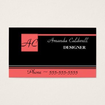 Professional Business Monogram Business Card Template - Modern