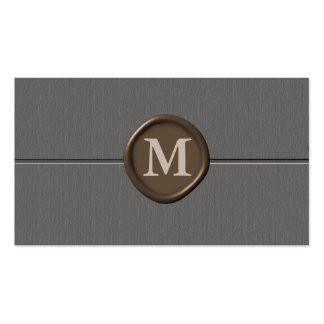 monogram Business Cards - Customized