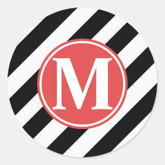MONOGRAM BUSINESS STICKER/SEAL