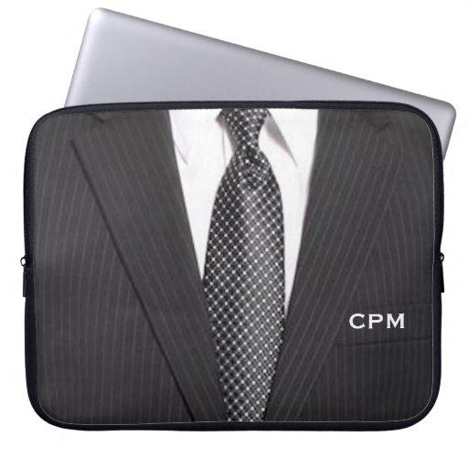Monogram Business Suit & Tie Laptop Sleeve