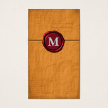 Monogram businesscards business card