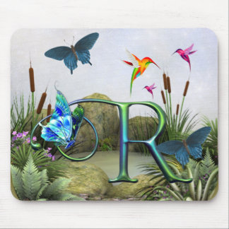 Monogram Butterfly Fantasy R Mouse Pad