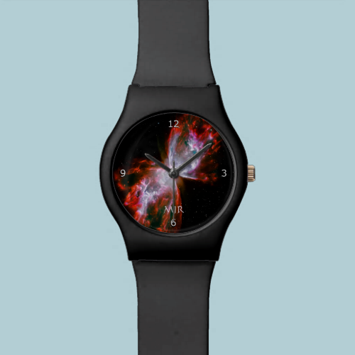 Monogram, Butterfly Nebula in Scorpius space image Wrist Watches