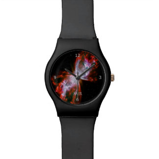 Monogram, Butterfly Nebula in Scorpius space image Wrist Watch