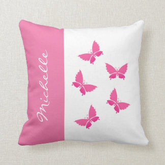 Monogram Buttrfly Throw Pillows