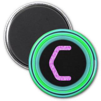 """Monogram """"C"""" 2 Inch Round Magnet"""