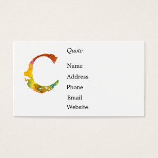 Monogram - C - Business Card