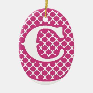 Monogram C Ceramic Ornament