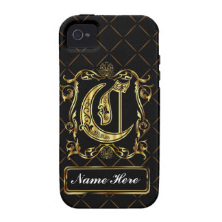 Monogram C Vibe Important View Notes Please iPhone 4 Cover