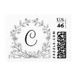 Monogram C Wedding Invitation Initial Monograms Stamp