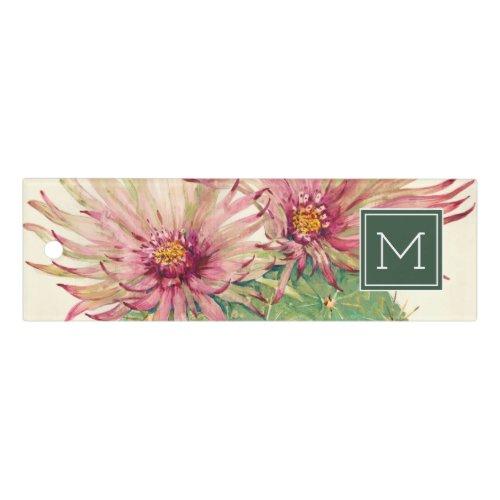 Monogram | Cactus Pink Blossoms Ruler