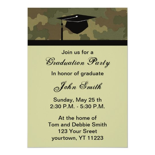 Monogram camouflage graduation party invitation zazzle monogram camouflage graduation party invitation filmwisefo