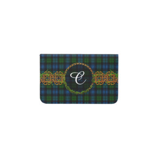 Monogram Campbell Military Tartan Business Card Holder
