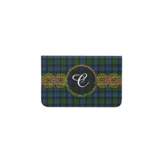 Monogram Campbell Military Tartan Business Card Holder