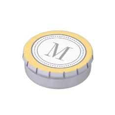 Monogram Candy Tin - Yellow at Zazzle