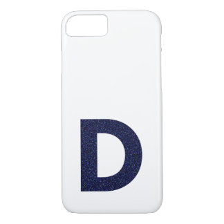 Monogram Capital D with Faux Glitter iPhone 8/7 Case